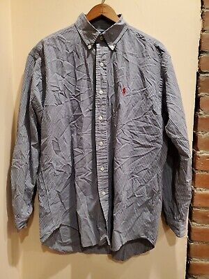 Ralph Lauren Mens Blake Oxford Shirt Blue Long Sleeves 100% Cotton M