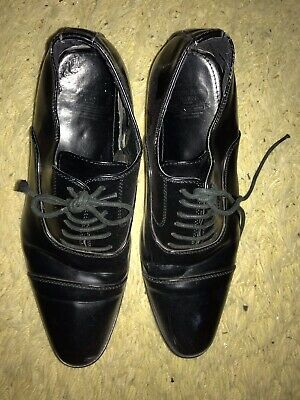 Oxbridge Town Men All Black Dress Shoes Size 8