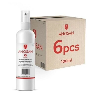 AnosanDesinfektionsmitteldisinfectant non-toxic to humans - Swiss Made - 6x100