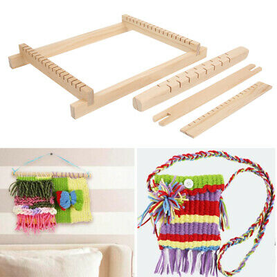 Elm s Wooden Tapestry Hand-Knitted Machine DIY Woven Set Weaving  Kit