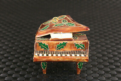 unique Chinese old cloisonne Hand carved piano statue  decoration