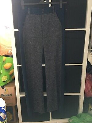 """Anthropologie Elevenses Size 10 """"The Brighton"""" Blue Tailored Trousers (J12)"""