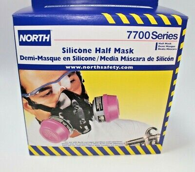 North Silicone Half Mask Large Respirator 7700 Series 2 Filters New