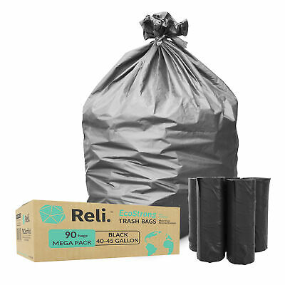 Reli. EcoStrong 40-45 Gallon Trash Bags (90 Count) Eco-Friendly Recyclable