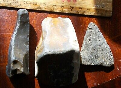 Mesolithic Or Later Flint Chisel/Tinder Striking Tools