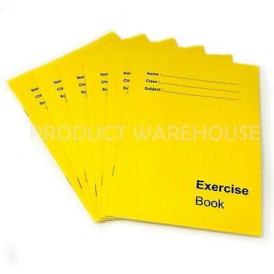 6 x A5 Exercise Books School Notebook Children Homework Handwriting Lined Pages
