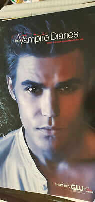 2011 Sdcc Comic Con Exclusive Cw Promo Poster Vampire Diaries Ian Somerhalder