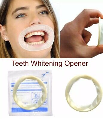 Teeth Whitening Dental Mouth Gag Soft Sterile Rubber Dam Retractor UK Shipping.
