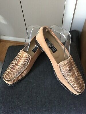 Russell & Bromley snakeskin leather loafers