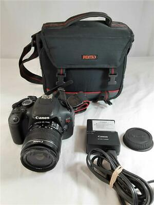 Canon EOS Rebel T3i 18.0MP Digital SLR Camera With 18-55mm Lens, Charger + Bag