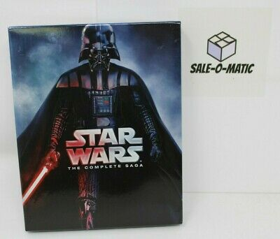 Star Wars The Complete Saga 9 Disc Set All 6 Movies Blu-Ray With 40 Extra Hours