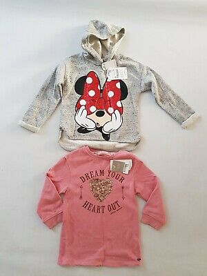 Girls Zara And Next Jumper Hoodie Size 4-5yrs Mickey mouse