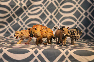 Safari LTD Savannah African Animals Hyena Leopard Warthog