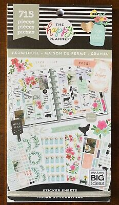 """NEW! Me & My Big Ideas The Happy Planner """"FARMHOUSE"""" Sticker Book - 715 Pieces"""