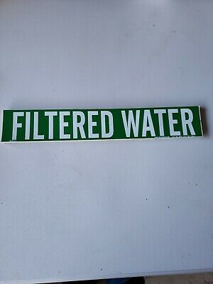 Filtered Water Pipe Markers