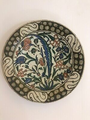ANCIENT IZNIK PLATE CIRCA 1500 - NO RESERVE! Fresh from a Professors estate