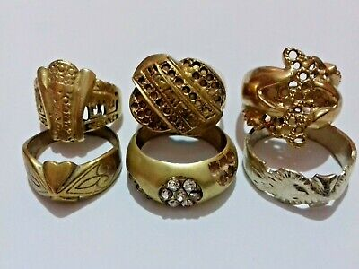 Lot Of 6 Ancient Rare Bronze Rings Roman Artifact