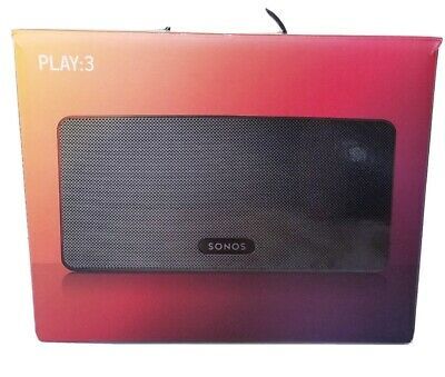 Sonos Play:3-Mid-Sized Wireless Smart Home Speaker PLAY3US1BLK. Brand New Sealed
