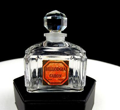 Bellodgia Caron Baccarat Crystal Faceted Stopper 3' Perfume Bottle