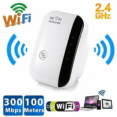 WiFi Signal Range Booster Wireless Network Extender 300Mbps Internet Repeater