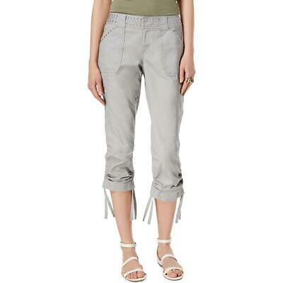 INC Womens Gray Studded Curvy Fit Capri Cargo Pants 6 BHFO 2232