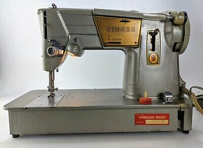 Singer Vintage 328K Sewing Machine 1969 Heavy Duty Upholstery w Pedal