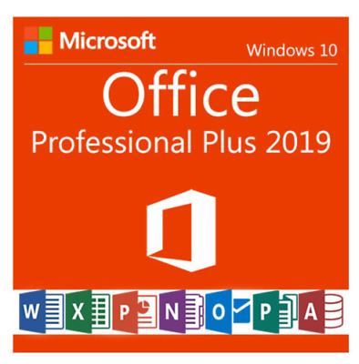 Microsoft Office 2019 Professional Plus 32/64 Key and download FAST DELIVERY
