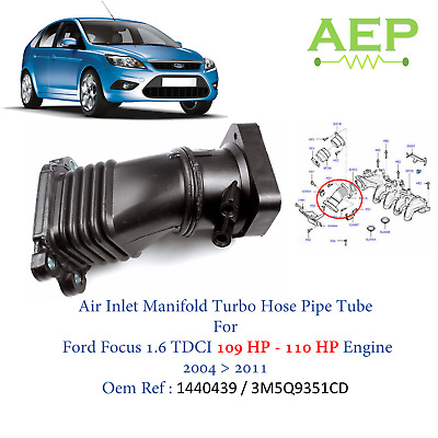 AIR INLET MANIFOLD TURBO HOSE PIPE FOR FORD FOCUS C-MAX 1.6 03-11 3M5Q9351EB