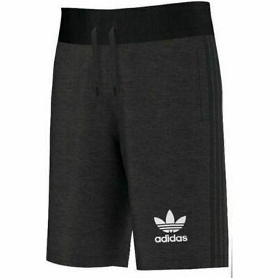 Adidas Original mens 3 stripe Shorts summer Dark grey Fleece Cotton small size
