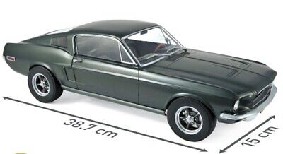 FORD Mustang MKI Fastback Coupe 1968 green grün US Muscle Car NOREV NEU 1:12