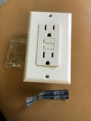 GX Electric 15 Amp White GFCI GROUND FAULT CIRCUIT INTERRUPTER