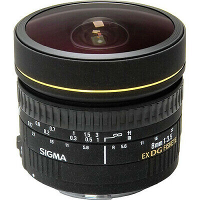 SIGMA 8mm F3.5 EX DG CIRC FISH EYE LENS f CANON CAMERA NEW in FACTORY BOX & CASE