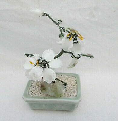 Ornamental Japenese / Oriental Glass Bonsai Tree - Lot D
