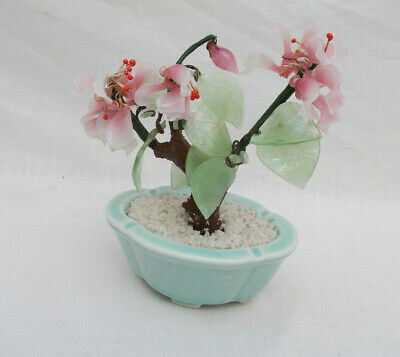 Ornamental Japenese / Oriental Glass Bonsai Tree - Lot C