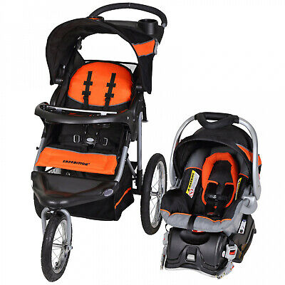 Baby Expedition Jogger Travel System/ Infant Car Seat Combo Orange Lightweight