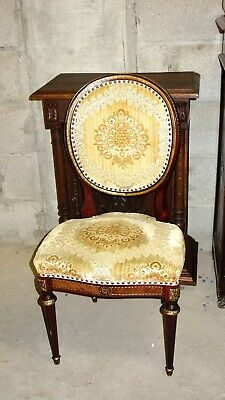 Antique Baroque Chair Rococo Solid Wood Rich Decorations