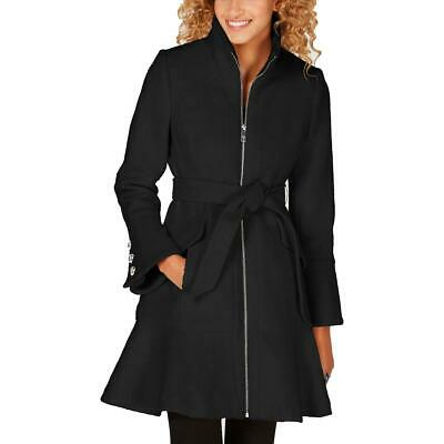 Guess Womens Black Wool Blend Boucle Winter Midi Coat Outerwear L BHFO 9866