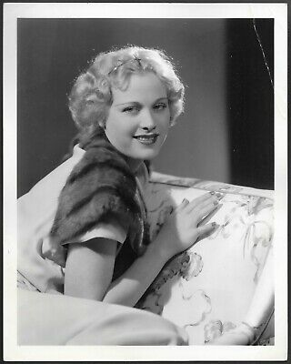 Esther Ralston Original 1930s Clarence Bull Stamped MGM Promo Portrait Photo