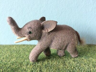 Elefant Max Carl beflockt Fritz Wagner flocked animal elephant