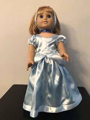 "Handmade Princess Cinderella Doll Costume Fits 18"" American Girl Dolls !!!"