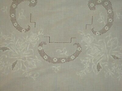 Antique&Vintage Madeira Handmade Cotton Large Tablecloth*code:401a*