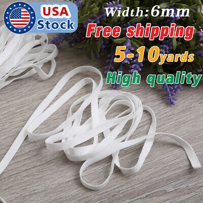 5-10 Yards Length Braided mask Elastic Band Cord Knit Band Sewing 1/4 inch USA