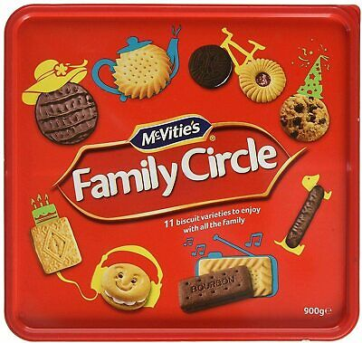 Mcvitie's Family Circle Biscuits GREAT FOR SHARING AND CHRISTMAS GIFT 900 G box
