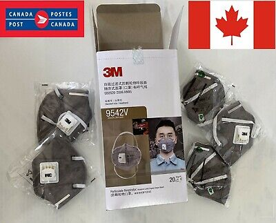 Package of 5 Face Masks 9542V  CANADIAN Seller CANADIAN Stock