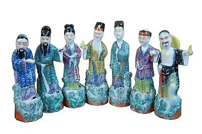 20th C. Chinese Famille Rose Porcelain Gods Immortals Goddesses Removable Hands