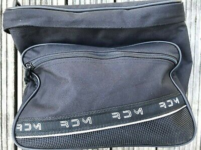 RDM Black Motorcycle Cycle Helmet Tail Bag Waterproof cover Straps