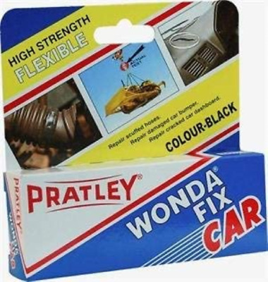 Pratley Rubber Repair - 2 Part Black Epoxy Leather Glue - Adhesive Kit for Shoe