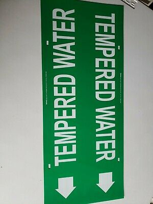 Tempered Water Pipe Markers