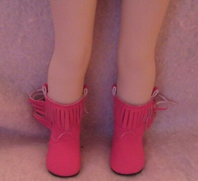 Brown Eagle Boots fit American Girl Wellie Wisher Doll 14.5 Inch Seller lsful