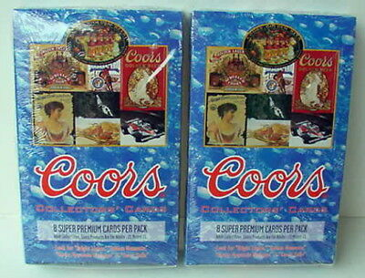 COORS BEER SEALED BOX OF 36 PACKS OF COLLECTORS CARDS